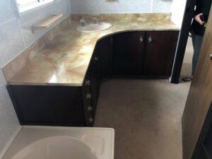 Floor and sink
